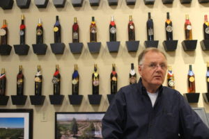 Bill Loken in the trophy room of his Pahrump Valley Winery on May 7, 2018. Photo: @GrapeBasinNews